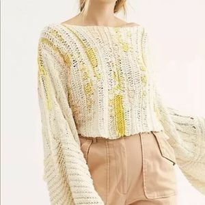 Free People Drive Through Pullover Fringe Sweater